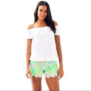 """NWT LILLY PULITZER """"Resort White"""" Tamiami top"""